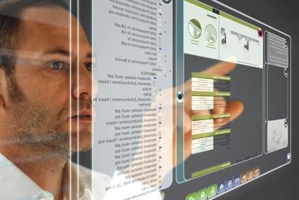 man analyzing data