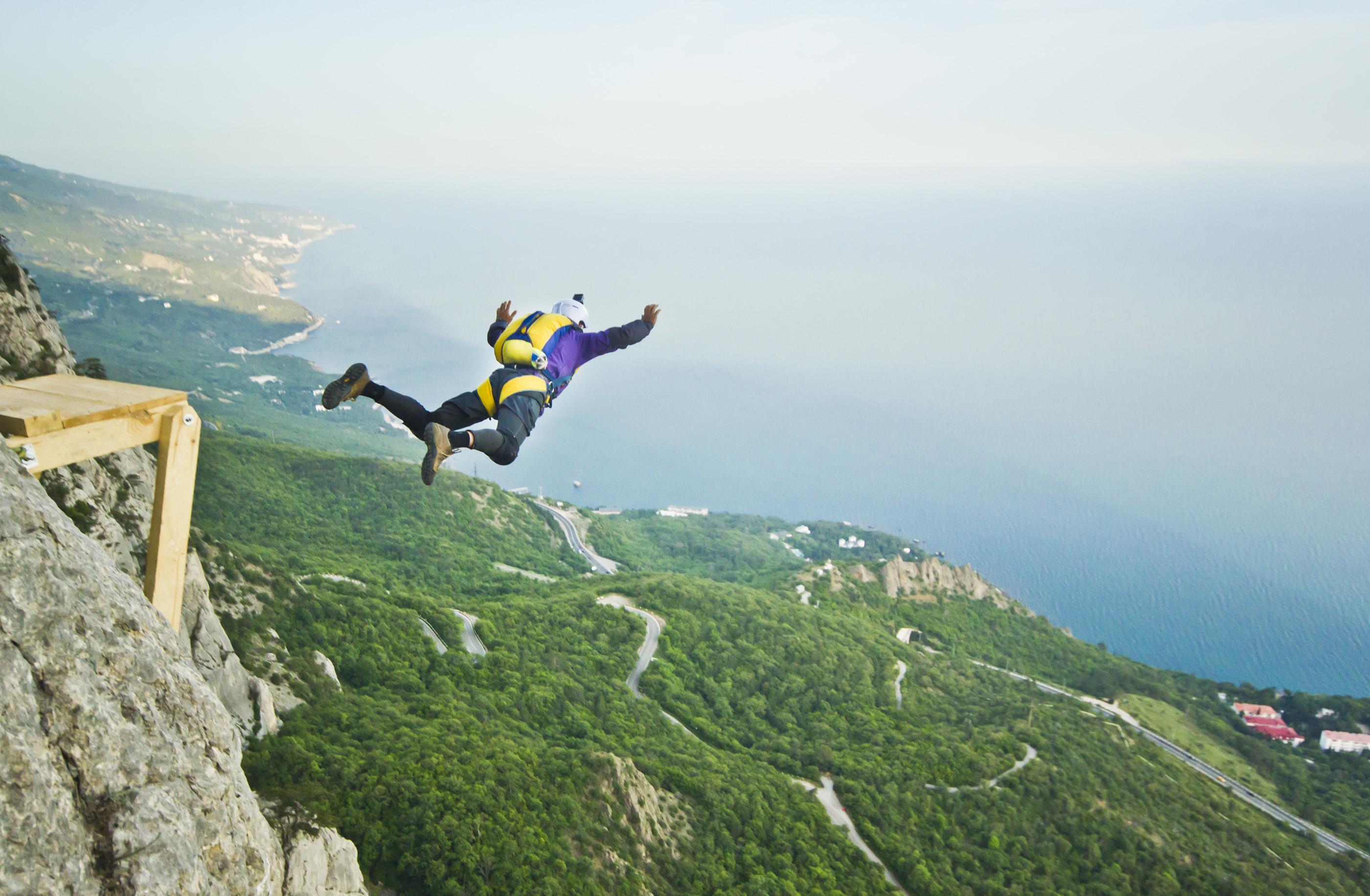 man base jumping